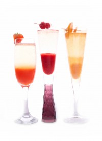 Strawberry, Peach, Raspberry Bellini