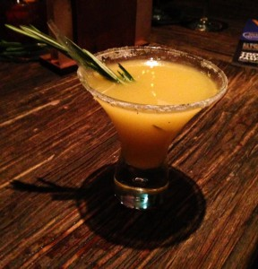 rosemary and mango margarita