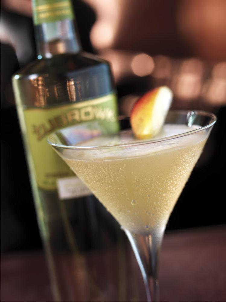 Zubrowka Full Moon Apple Martini Cocktail